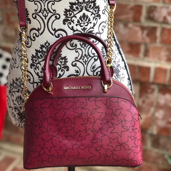 1fc8a053103d Michael kors Emmy mulberry small dome satchel bag